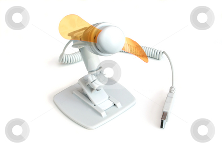 USB Fan stock photo, USB miniature fan by Helen Shorey