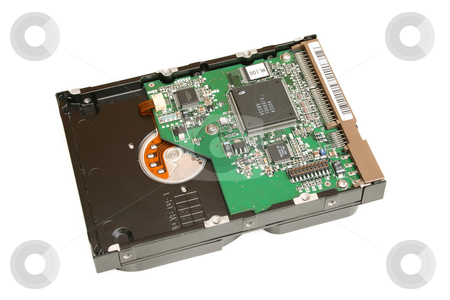 Hard Disk Drive Case  stock photo, Showing circuit board by Helen Shorey