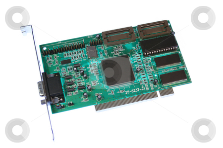 PCI Graphics Card stock photo,  by Helen Shorey