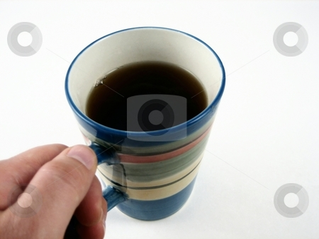 A cup of coffee stock photo, An invigorating cup of coffee for the morning and afternoon by Albert Lozano