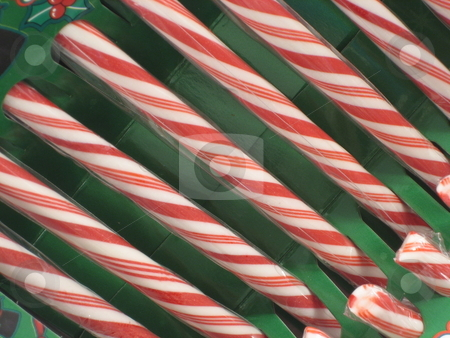Candy Canes on green stock photo, Candy Canes for Christmas Decorations by Albert Lozano