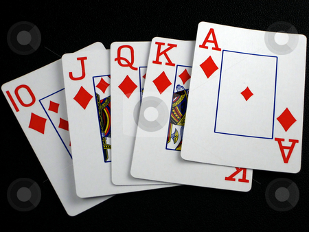 Playing cards stock photo, Pictures of various scenes depicting playing cards by Albert Lozano