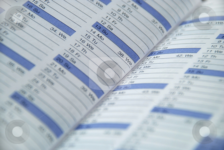 Daily planner stock photo, Daily planner used to keep appointments and reminders by Albert Lozano