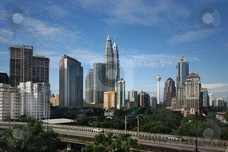 Kuala Lumpur Cityscape stock photo, Kuala Lumpur Cityscape with twin tower by Jaggat Images