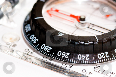 Compass stock photo, Fin your way by Luca Bertolli