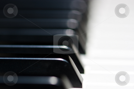 Piano keyboard stock photo, Piano keyboard by Luca Bertolli