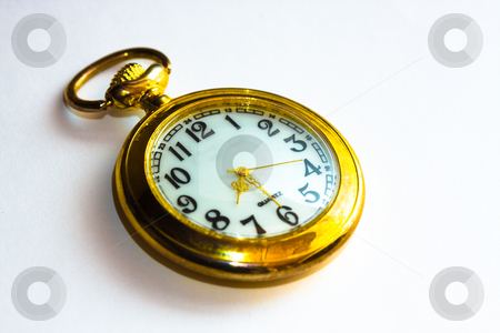Golden watch stock photo, Time is gold by Luca Bertolli