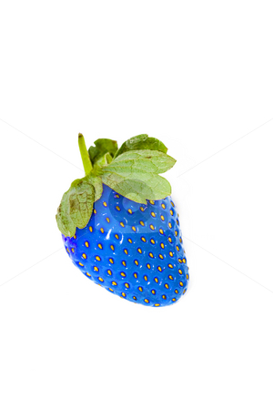Blue strawberry stock photo, Eat it at your own risk by Luca Bertolli