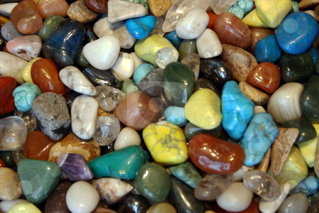 Colorful Rock Background stock photo, Colorful rocks great for use as background by CHERYL LAFOND