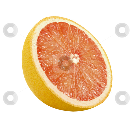 Grapefruit Slice stock photo, Grapefruit Slice with a clipping path, on a white background by Danny Smythe