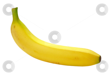 Banana stock photo, Banana isolated on a white background by Danny Smythe