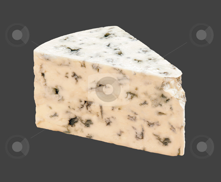 Blue Cheese stock photo, Blue Cheese with a clipping path, on a dark background by Danny Smythe