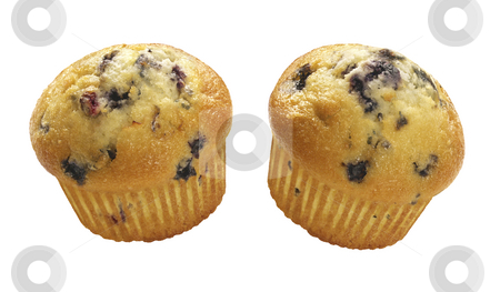Blueberry Muffins stock photo, Blueberry Muffins isolated on a white background by Danny Smythe