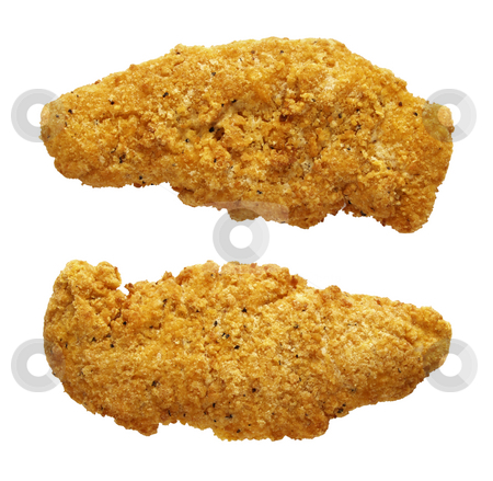 Chicken Fingers stock photo, Chicken Fingers isolated on a white background by Danny Smythe