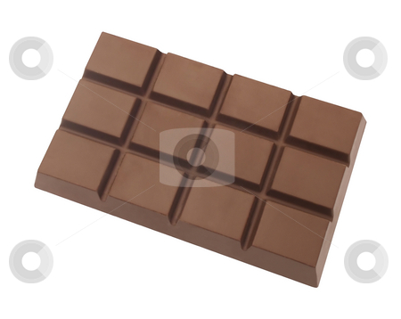 Chocolate Bar stock photo, Chocolate Bar isolated on a white background by Danny Smythe