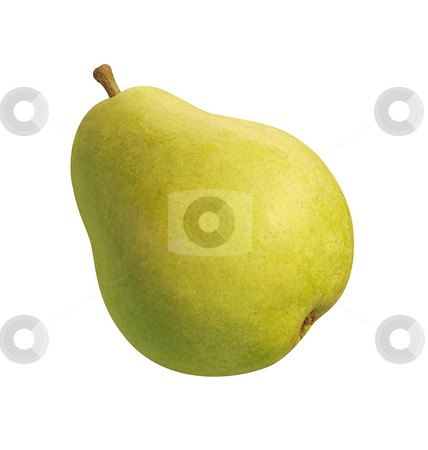 Green Pear stock photo, Green Pear isolated on a white background by Danny Smythe