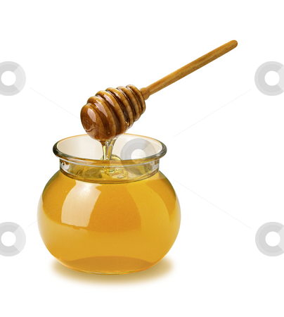 Honey stock photo, Honey isolated on a white background by Danny Smythe