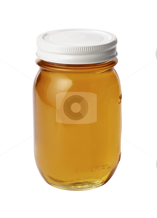 Honey Jar stock photo, Honey Jar isolated on a white background by Danny Smythe