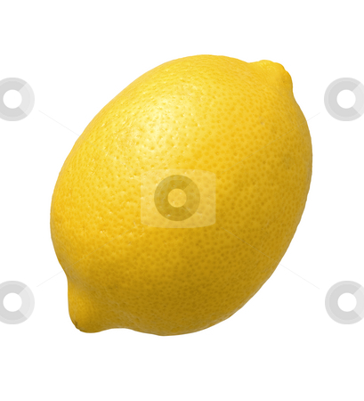 Lemon stock photo, Lemon isolated on a white background by Danny Smythe