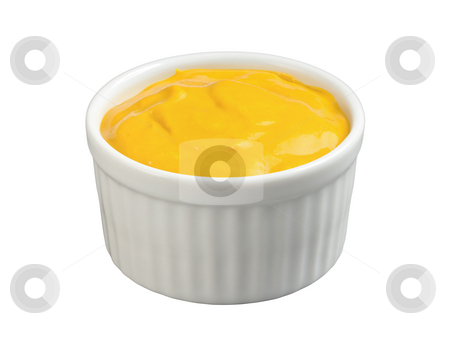 Mustard stock photo, Mustard in a Ramekin isolated with a clipping path by Danny Smythe