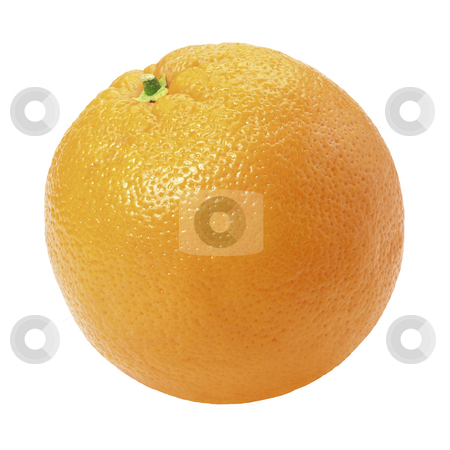 Orange stock photo, Orange isolated on a white background by Danny Smythe
