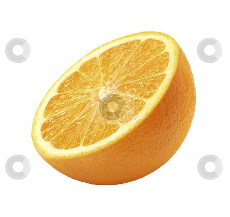 Orange Half stock photo, Orange Half isolated on a white background by Danny Smythe