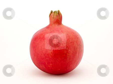 Pomegranate stock photo, Pomegranate isolated on a white background by Danny Smythe