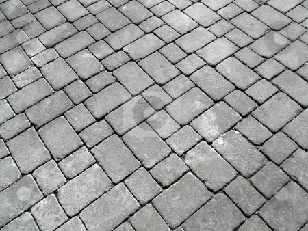 Close up of cobblestones on an old English road. stock photo, Close up of cobblestones on an old English road. by Stephen Rees