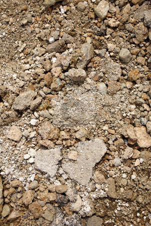 Garden soil and stones close up. stock photo, Garden soil and stones close up. by Stephen Rees