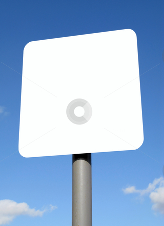 Blank white sign with space for text. stock photo, Blank white sign with space for text. by Stephen Rees