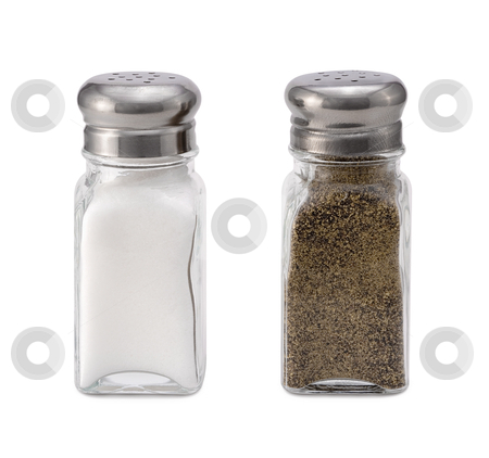 Salt and Pepper stock photo, Salt and Pepper isolated on a white background by Danny Smythe