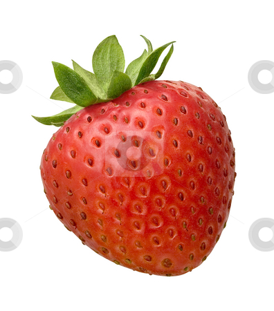 Strawberry stock photo, Strawberry isolated on a white background by Danny Smythe