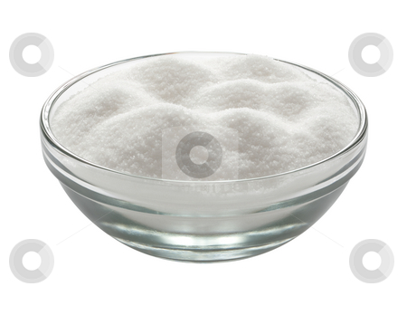 Sugar Bowl stock photo, Glass Sugar Bowl isolated on white with a clipping path by Danny Smythe