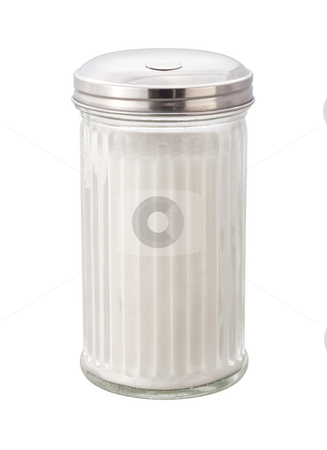 Sugar stock photo, Sugar in dispenser with a clipping path by Danny Smythe