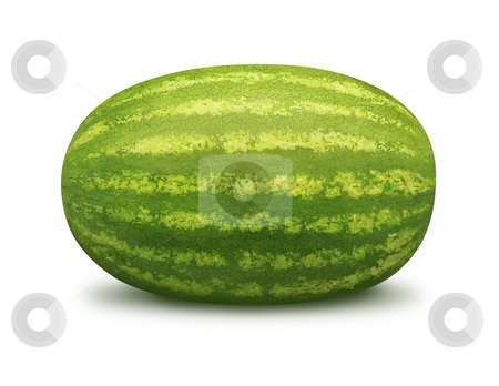 Watermelon stock photo, Watermelon isolated on a white background by Danny Smythe