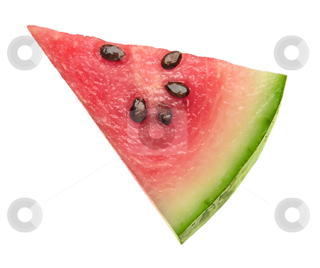 Watermelon Wedge stock photo, Watermelon Wedge isolated on a white background by Danny Smythe