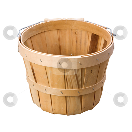 Basket stock photo, Basket isolated on a white background by Danny Smythe
