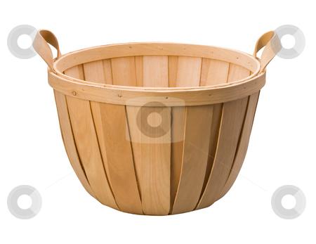 Basket stock photo, Basket isolated on a white background by Danny Smythe