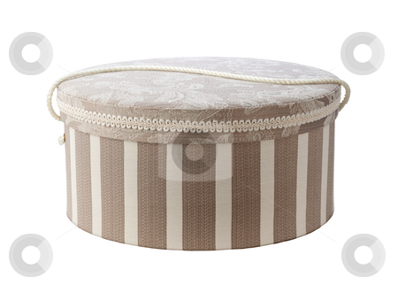 Vintage Hatbox stock photo, Vintage Hatbox isolated on white with a clipping path by Danny Smythe