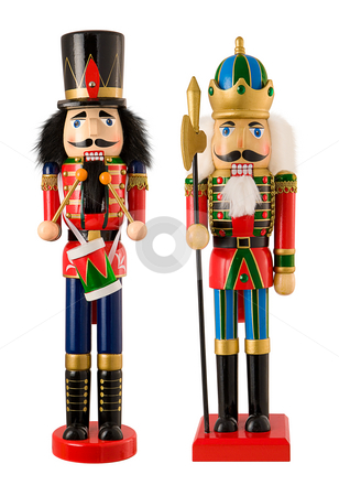 Nutcrackers stock photo, Nutcrackers isolated on a white background by Danny Smythe