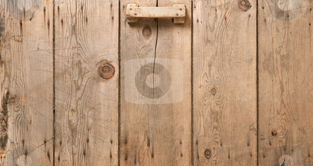 Old Corn Crib Door stock photo, Old Corn Crib Door isolated on black by Danny Smythe