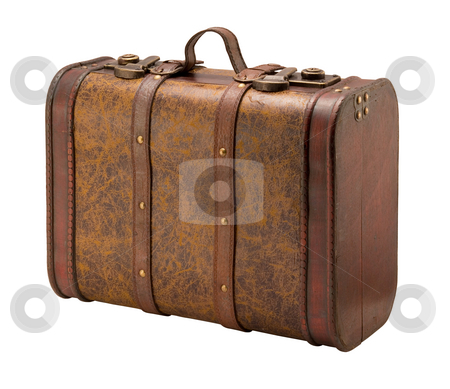 Old Suitcase stock photo, Old Suitcase isolated on a white background by Danny Smythe