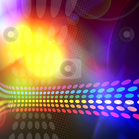 Rainbow Circles Layout stock photo, A rainbow colored abstract design template or layout. by Todd Arena