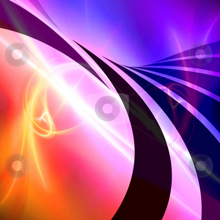 Colorful Swoosh Layout stock photo, An abstract design template or layout with swoosh lines. by Todd Arena