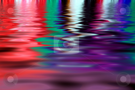 Light playing on water stock photo, Light reflecting in a lake showing many different colors by Paul Phillips