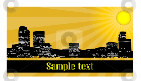 City at day stock vector clipart,  by Mihaly Pal Fazakas