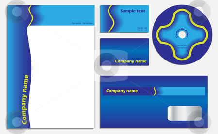 Blue vector set stock vector clipart,  by Mihaly Pal Fazakas