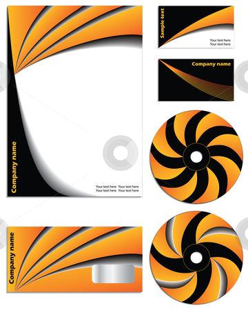 Orange vs black company vector set stock vector clipart,  by Mihaly Pal Fazakas