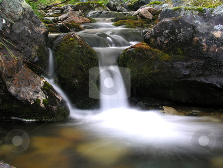 Mountain river stock photo, Mountain river by Ingvar Bjork