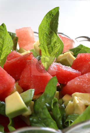 Watermelon salad stock photo, Fruit salad by Ewa Kubicka
